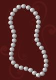 Pearl Necklace. On elegant background Stock Photography