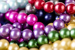 The pearl necklace arranged as background Royalty Free Stock Photography