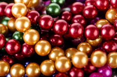 The pearl necklace arranged as background Royalty Free Stock Photos