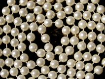Pearl necklace background Stock Photos