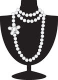 Pearl necklace on black mannequin Royalty Free Stock Images