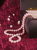 Pearl Necklace. In the box Royalty Free Stock Photo