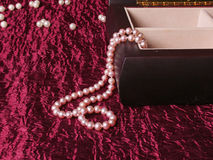 Pearl Necklace. In the box Stock Photo