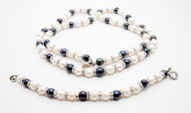 Pearl necklace and bracelet Stock Images