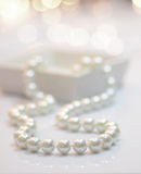 Pearl necklace. Close-up image of a pearl necklace Royalty Free Stock Photos