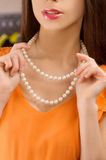 Pearl necklace. Stock Image