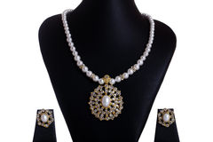 Pearl Necklace & Earrings Stock Photos