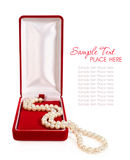 Pearl necklace in gift box Royalty Free Stock Photos