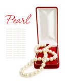 Pearl necklace in gift box Royalty Free Stock Images