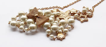 Pearl necklace. Royalty Free Stock Photography