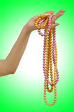 Pearl necklace in hand Royalty Free Stock Image