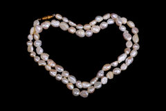 Pearl necklace heart Royalty Free Stock Photo
