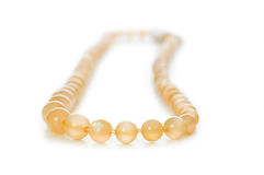 Pearl necklace isolated Stock Images