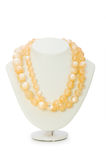 Pearl necklace isolated Royalty Free Stock Photography
