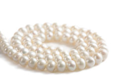 Pearl necklace isolated royalty free stock photos