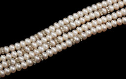 Pearl necklace isolated Stock Photos