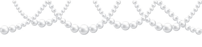 Pearl necklace isolated Royalty Free Stock Photo