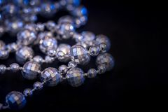 Pearl necklace isolated. On dark background Royalty Free Stock Image