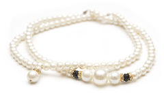 Pearl necklace isolated Royalty Free Stock Image