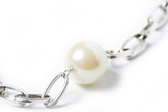 Pearl Necklace Macro Royalty Free Stock Photos