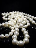 Pearl Necklace On Black Royalty Free Stock Photo