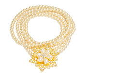 Pearl necklace and Pendant Royalty Free Stock Photo