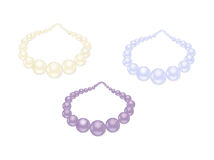 Pearl necklace set Royalty Free Stock Images