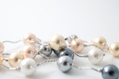 Pearl necklace jewelry Royalty Free Stock Photo
