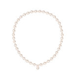 Pearl necklace on white Royalty Free Stock Photography