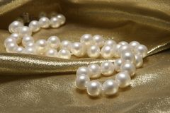 Pearl necklaces. stock photos