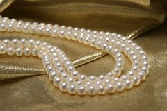 Pearl necklaces. Royalty Free Stock Image