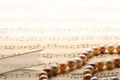 Pearl necklaces. Royalty Free Stock Images