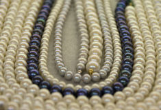 Pearl necklaces Stock Images