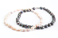 Pearl necklaces Royalty Free Stock Images