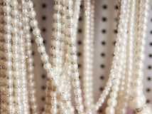 Pearl necklaces for sale Stock Photos