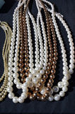 Pearl Necklaces at Street Market royalty free stock photos