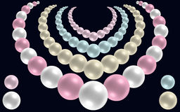 Pearl Necklaces Vector Royalty Free Stock Photography