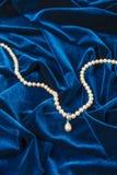 pearl niebieski aksamit Obraz Stock