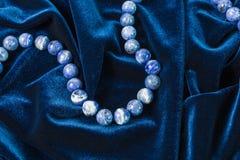 pearl niebieski aksamit Fotografia Stock