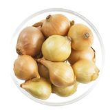 Pearl Onions in Bowl Stock Photography