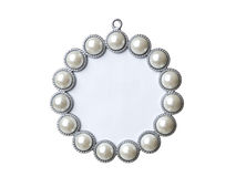 Pearl picture frame Royalty Free Stock Photos