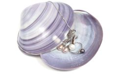 Pearl platinum jewelry Royalty Free Stock Images
