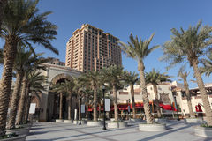 The Pearl promenade in Doha Royalty Free Stock Photography