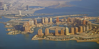 The Pearl Qatar. Project, an Aerial photo taken in 2013 royalty free stock photo