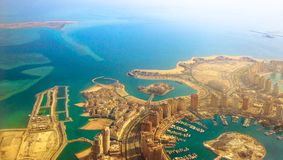 The Pearl Qatar aerial stock images