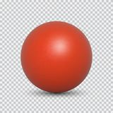 Pearl realistic isolated on transparent background. Red pearl realistic isolated on transparent background. Spherical beautiful 3D orb with transparent royalty free illustration