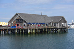 The Pearl Restaurant in Rockland Harbor, Maine Royalty Free Stock Image