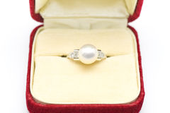 Pearl ring Royalty Free Stock Photo