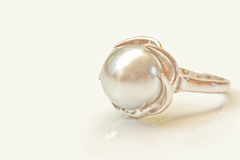 Pearl ring Stock Image