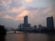 Pearl River Bridge in Guangzhou Royalty Free Stock Photo